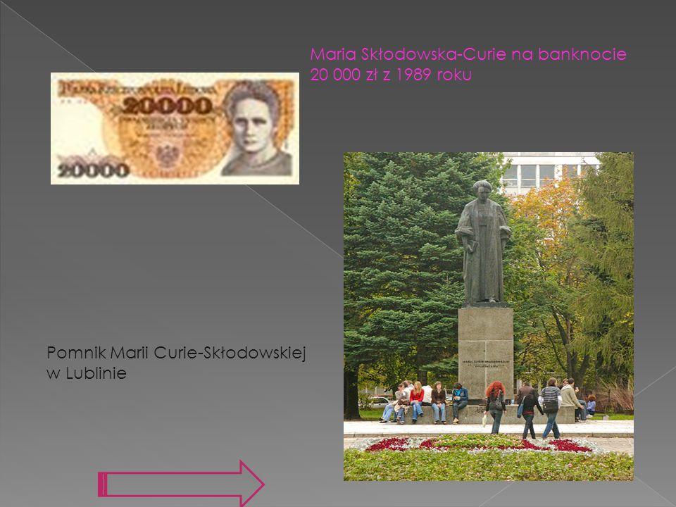 Maria Skłodowska-Curie na banknocie