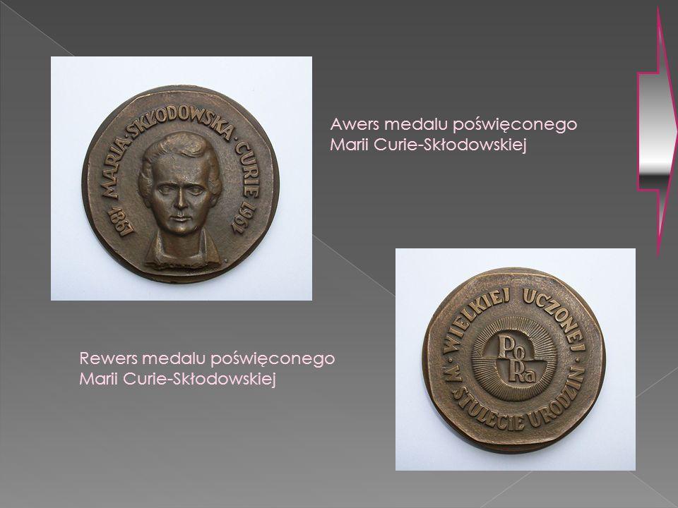 Awers medalu poświęconego