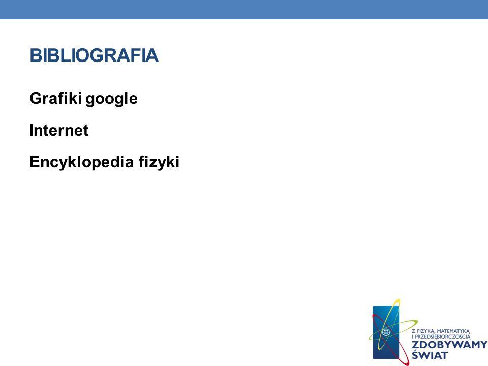 Bibliografia Grafiki google Internet Encyklopedia fizyki