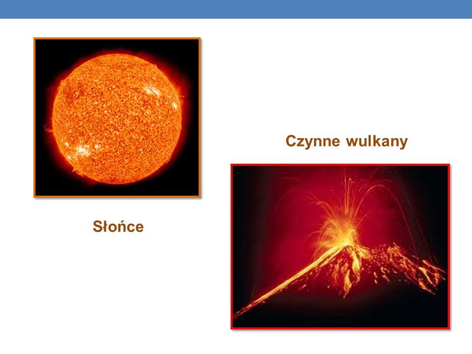Czynne wulkany Słońce