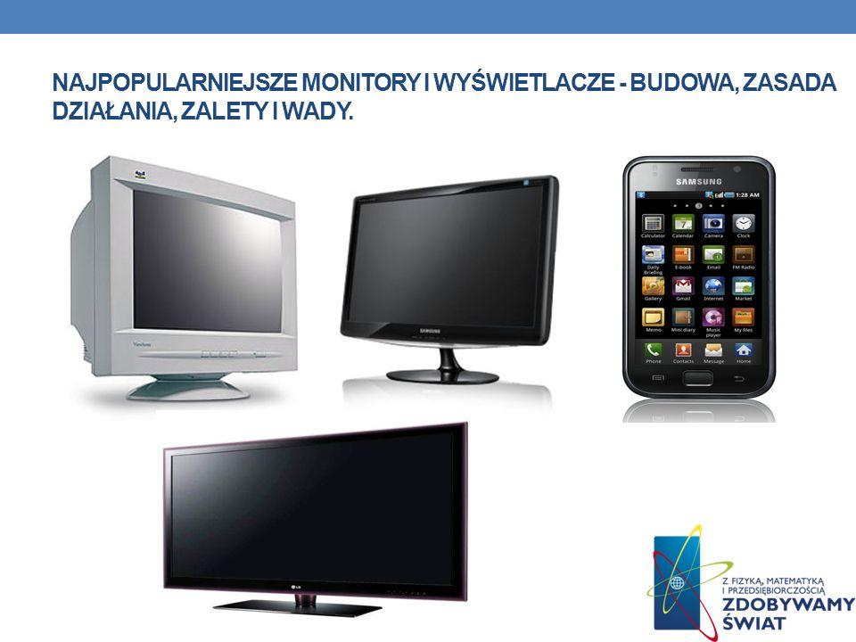 najpopularniejsze monitory i wyświetlacze - Budowa, zasada działania, zalety i wady.