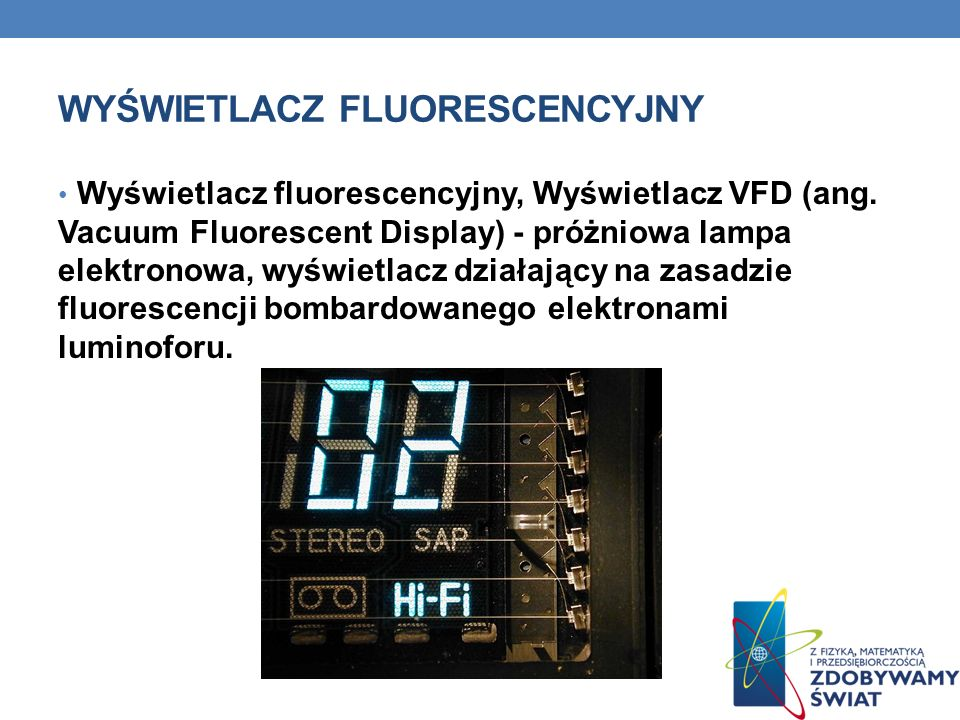 Wyświetlacz fluorescencyjny