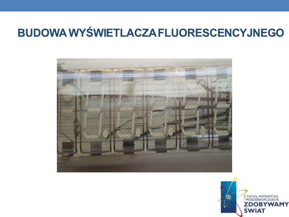 Budowa wyświetlacza fluorescencyjnego