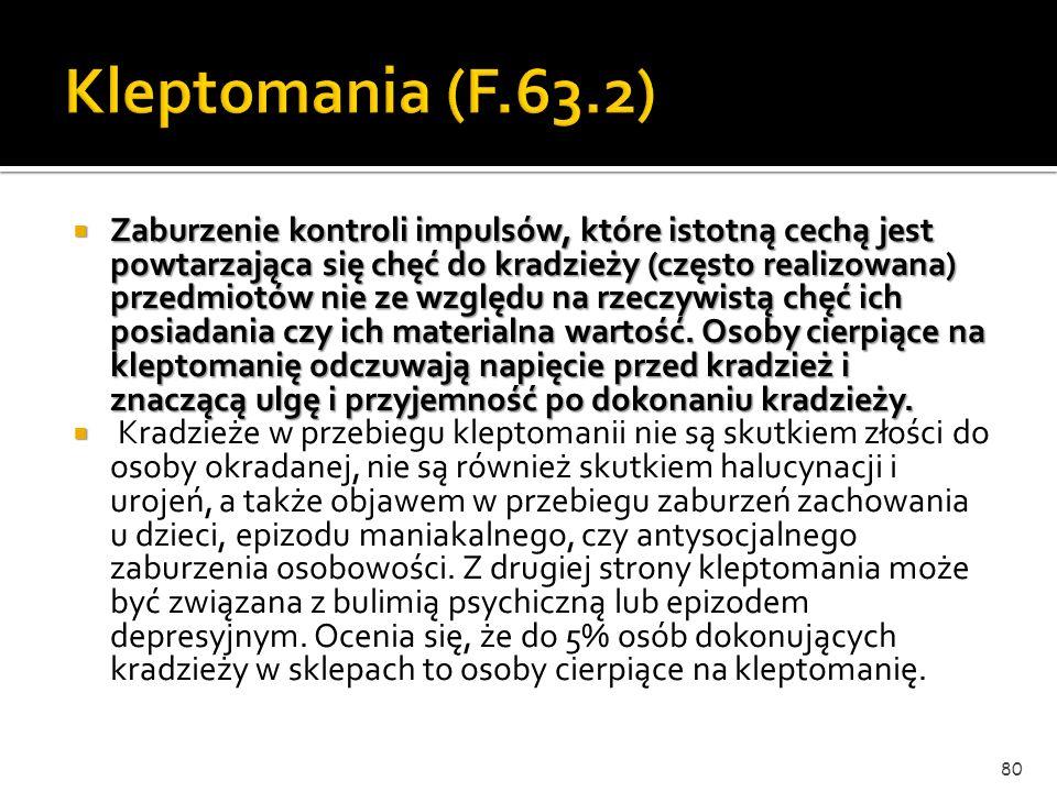 Kleptomania (F.63.2)