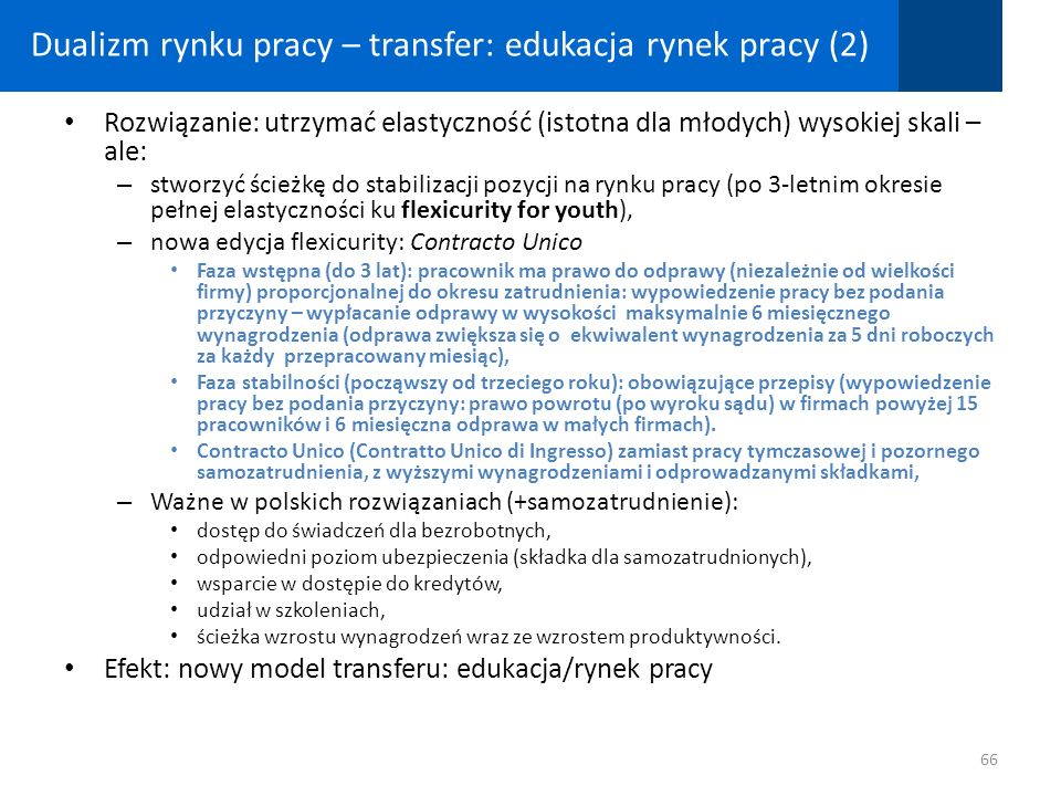 Dualizm rynku pracy – transfer: edukacja rynek pracy (2)