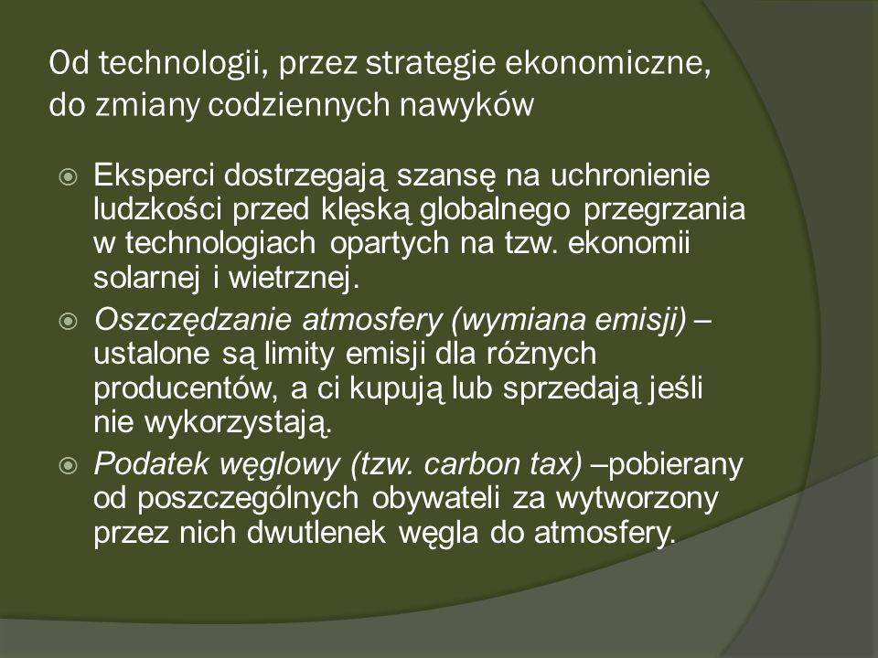 Od technologii, przez strategie ekonomiczne, do zmiany codziennych nawyków