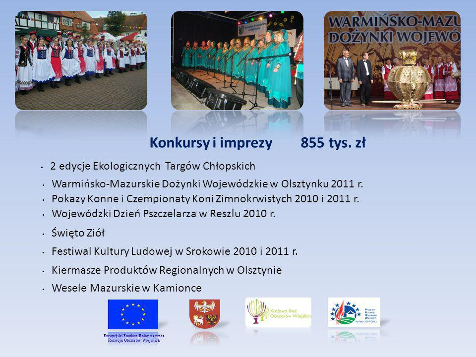 Konkursy i imprezy 855 tys. zł Rozwoju Obszarów Wiejskich