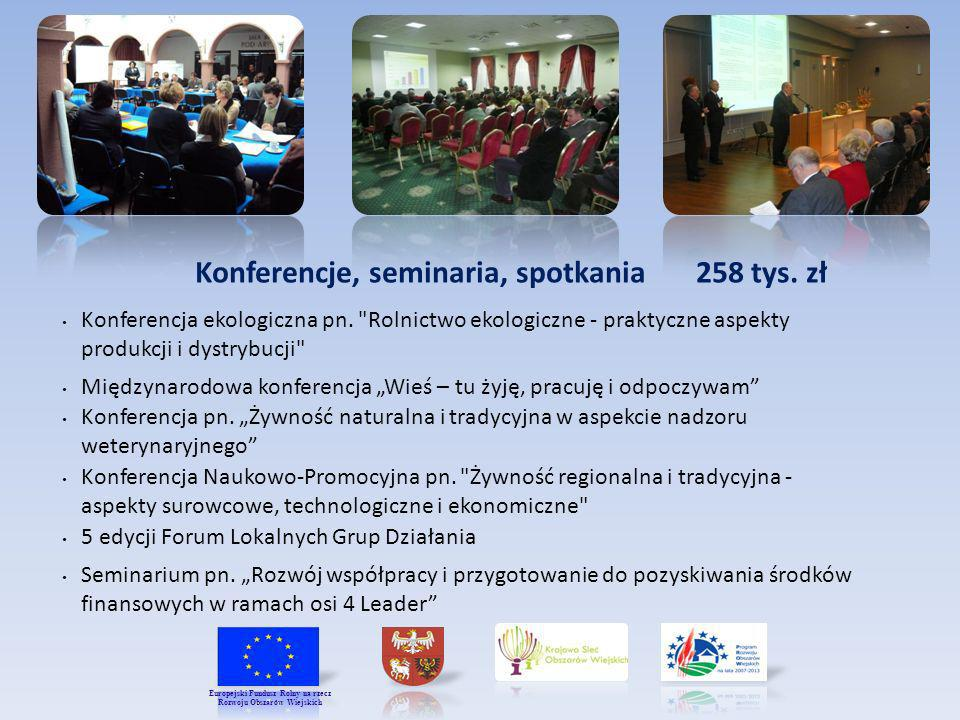Konferencje, seminaria, spotkania 258 tys. zł