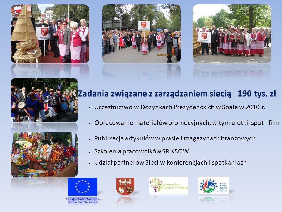 Zadania związane z zarządzaniem siecią 190 tys. zł