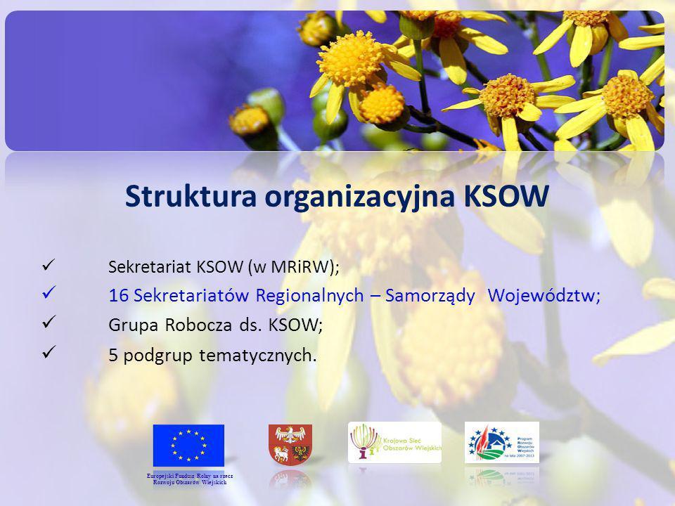 Struktura organizacyjna KSOW Rozwoju Obszarów Wiejskich