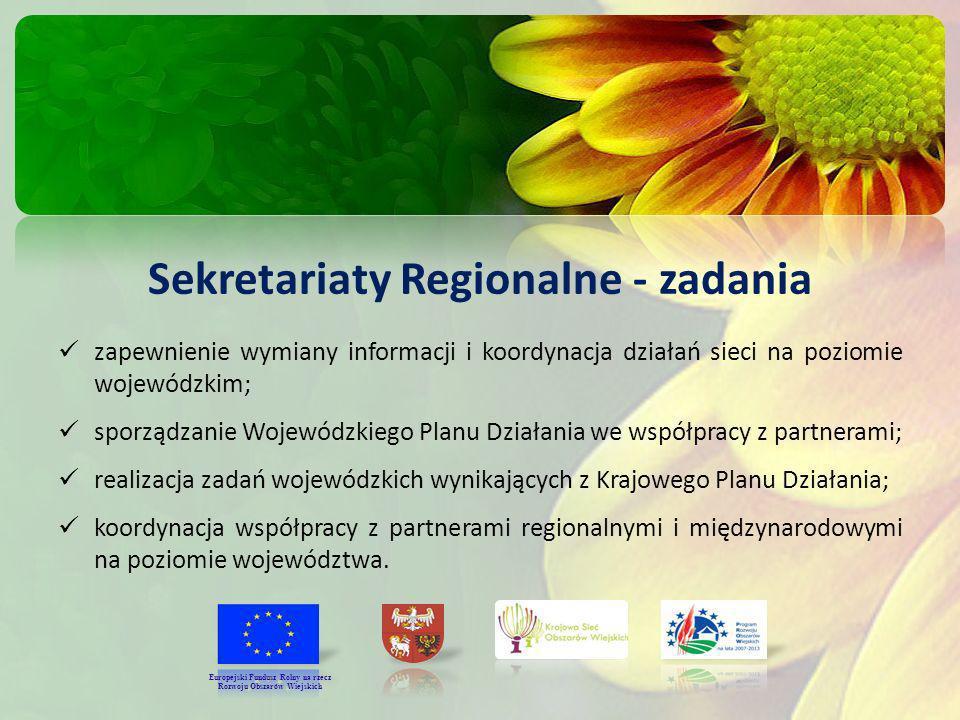 Sekretariaty Regionalne - zadania Rozwoju Obszarów Wiejskich
