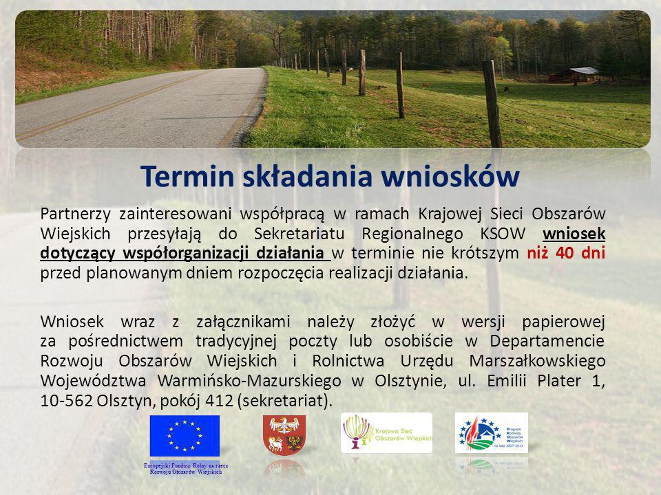 Termin składania wniosków Rozwoju Obszarów Wiejskich