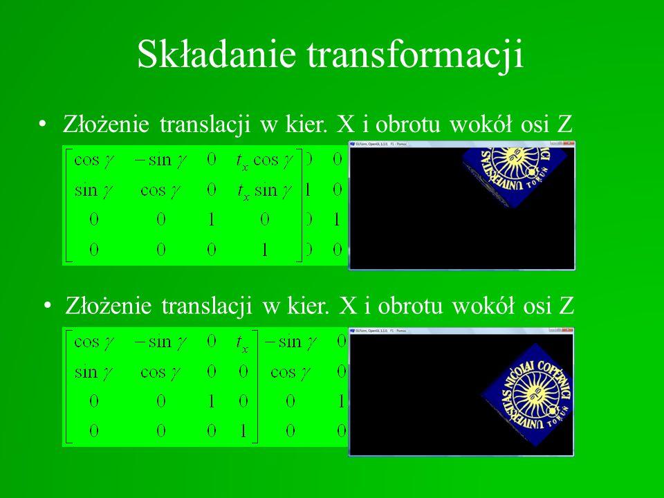 Składanie transformacji