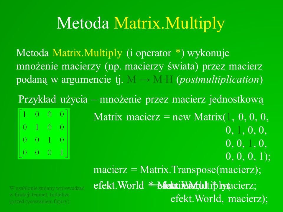 Metoda Matrix.Multiply