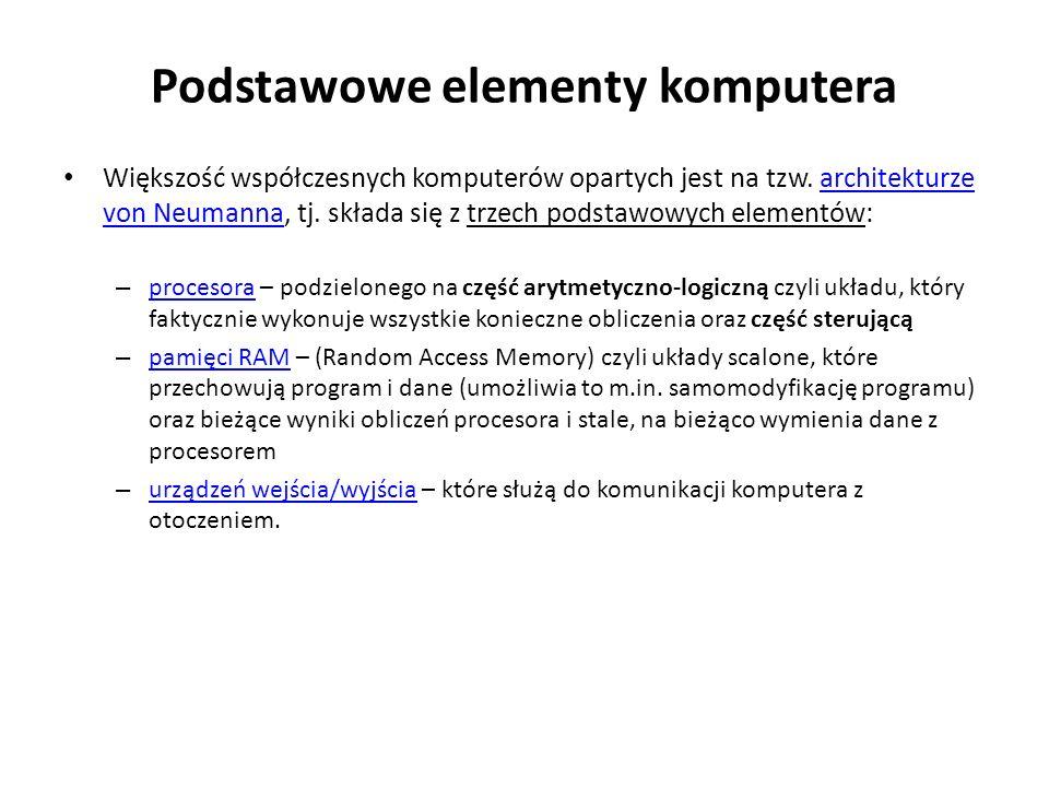 Podstawowe elementy komputera