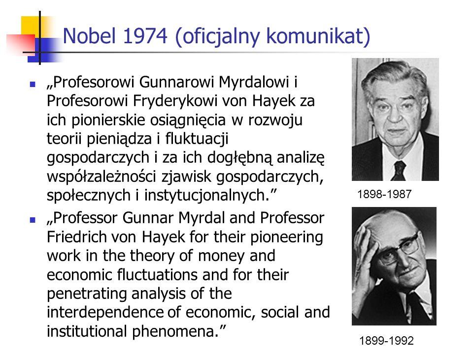 Nobel 1974 (oficjalny komunikat)