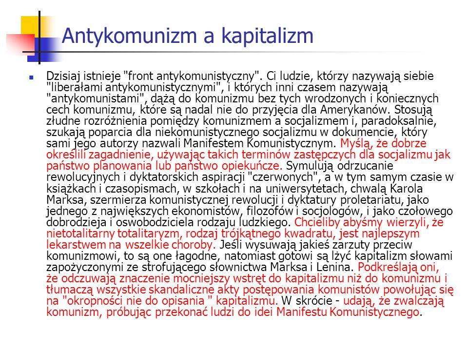 Antykomunizm a kapitalizm