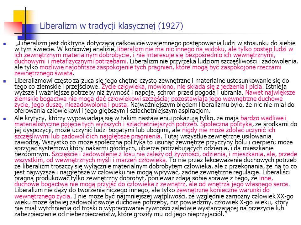 Liberalizm w tradycji klasycznej (1927)