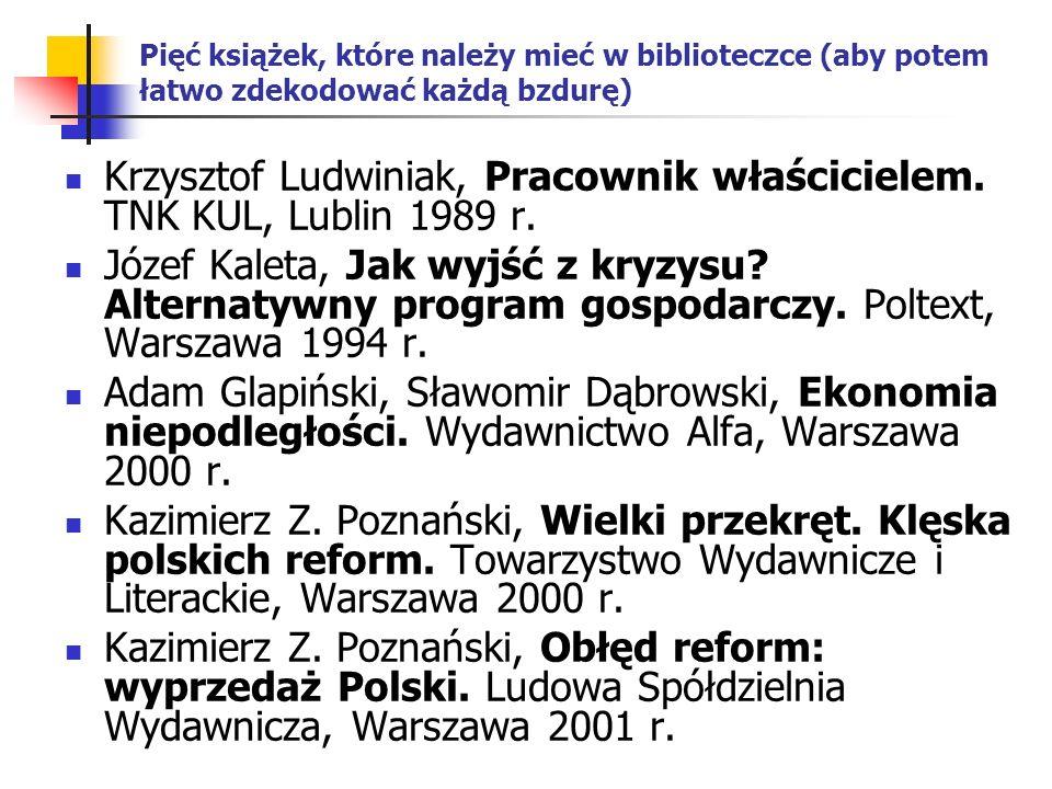 Krzysztof Ludwiniak, Pracownik właścicielem. TNK KUL, Lublin 1989 r.
