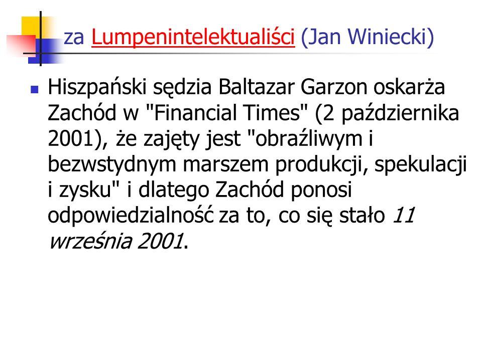 za Lumpenintelektualiści (Jan Winiecki)