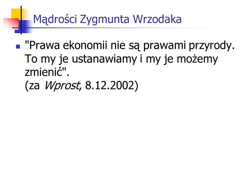 Mądrości Zygmunta Wrzodaka