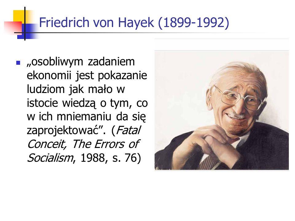 Friedrich von Hayek (1899-1992)