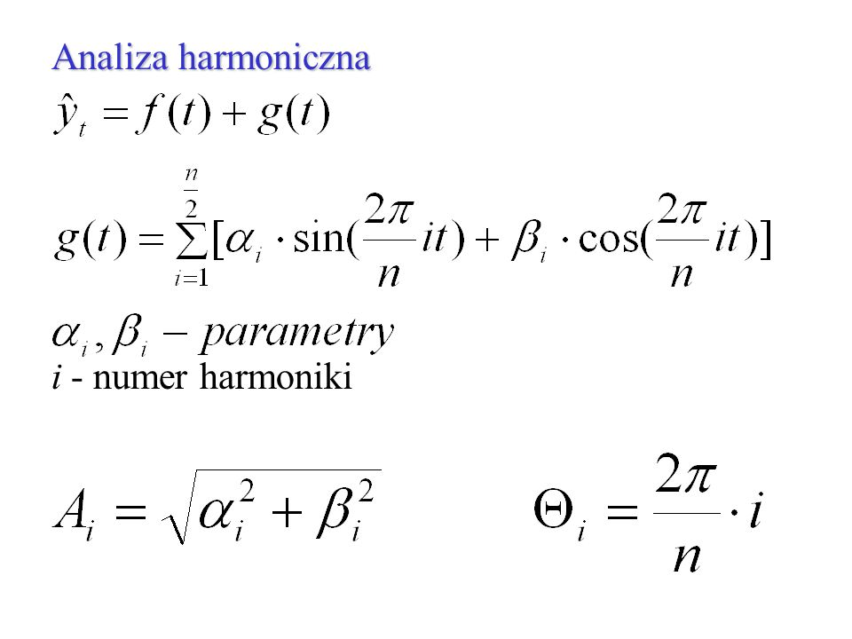 Analiza harmoniczna i - numer harmoniki