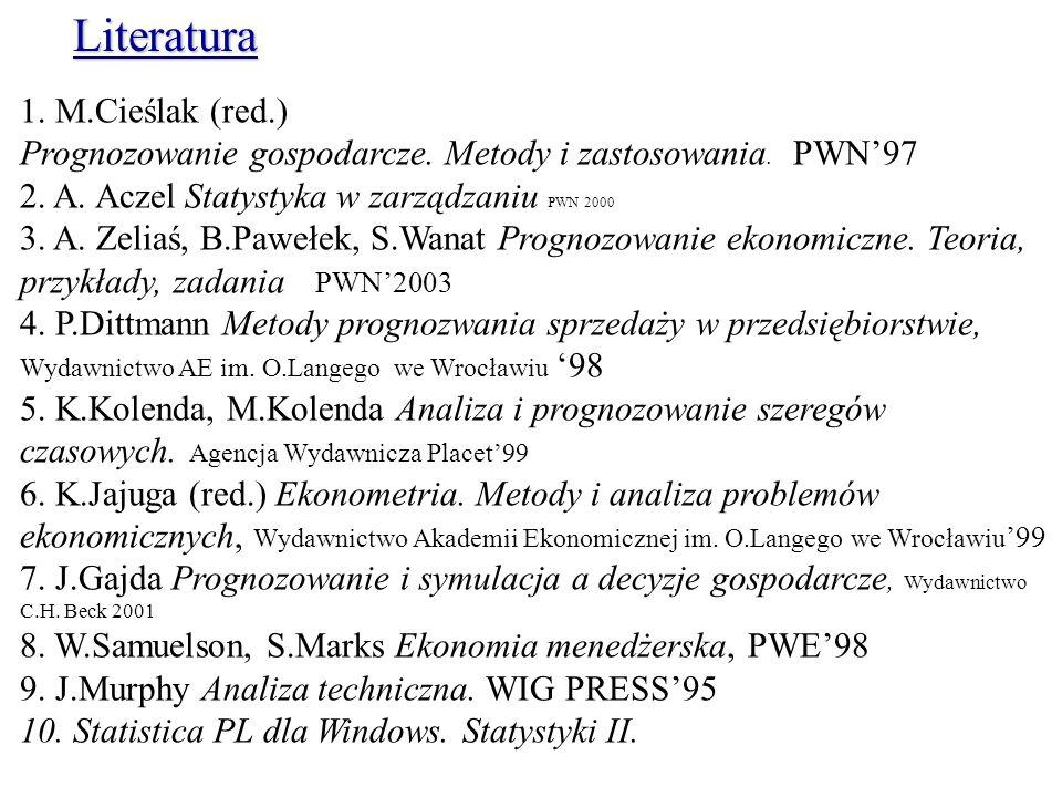 Literatura 1. M.Cieślak (red.)
