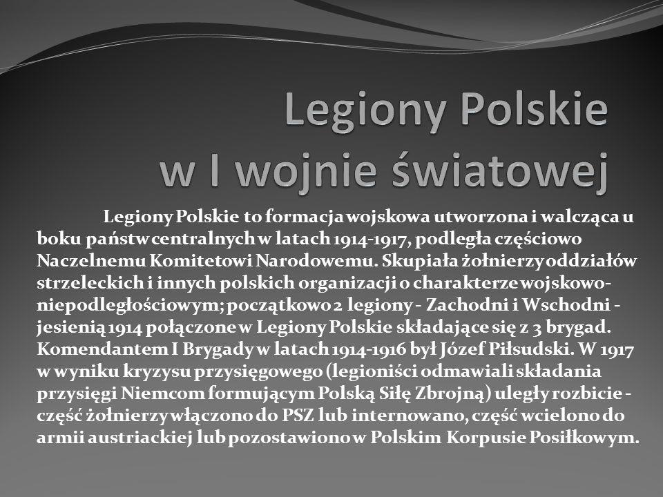 Legiony Polskie w I wojnie światowej