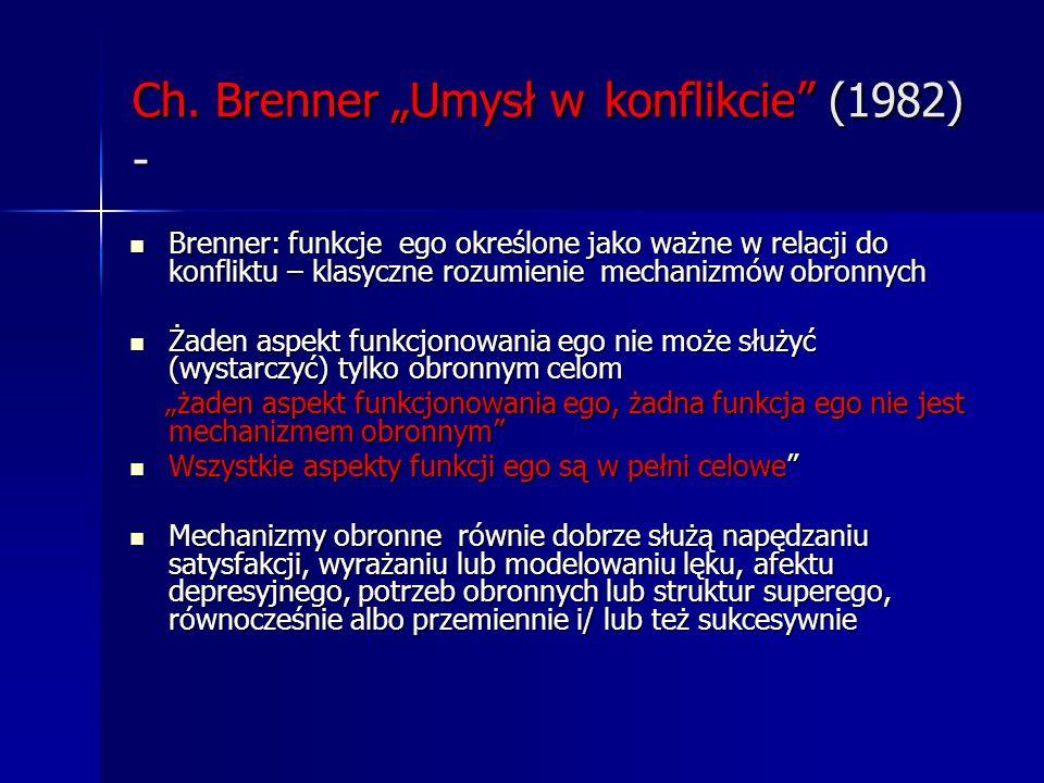 """Ch. Brenner """"Umysł w konflikcie (1982) -"""