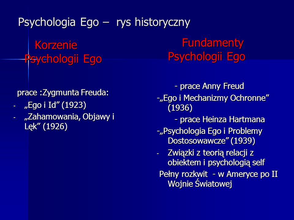 Psychologia Ego – rys historyczny