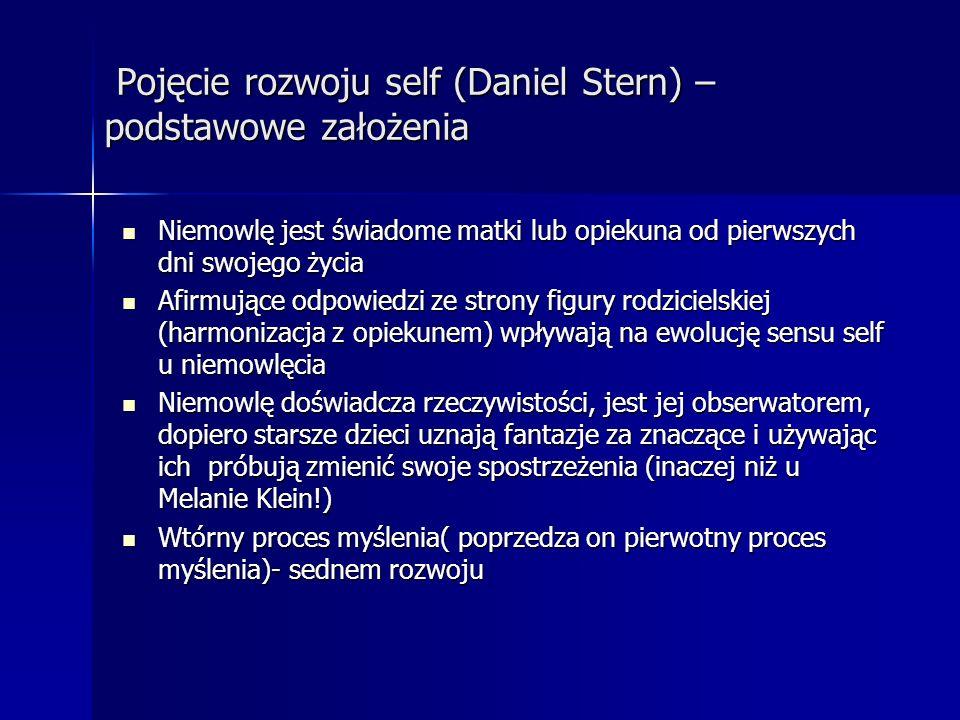 Pojęcie rozwoju self (Daniel Stern) – podstawowe założenia