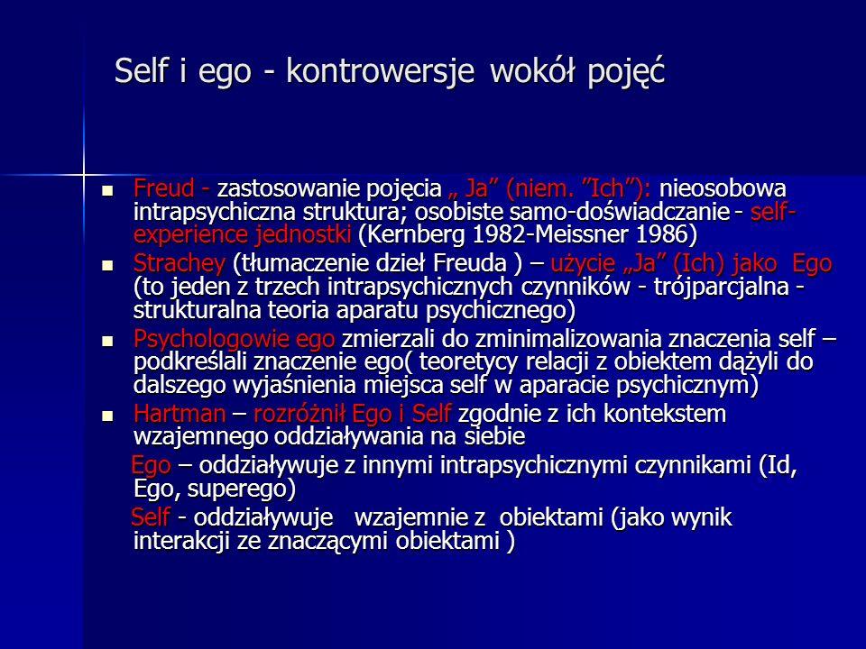 Self i ego - kontrowersje wokół pojęć