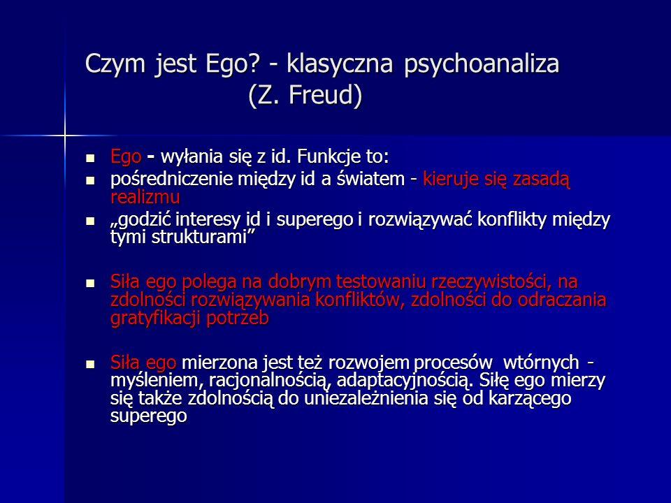 Czym jest Ego - klasyczna psychoanaliza (Z. Freud)
