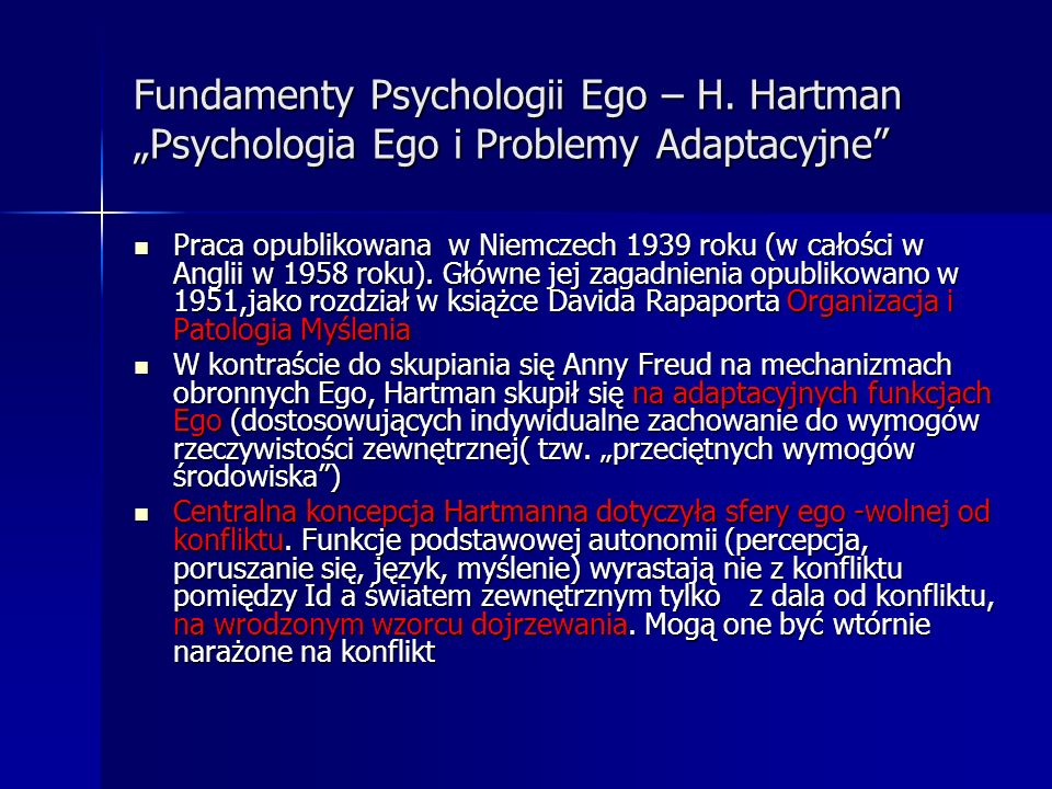 Fundamenty Psychologii Ego – H