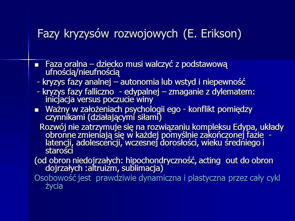 Fazy kryzysów rozwojowych (E. Erikson)