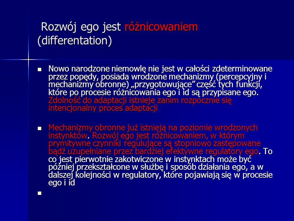 Rozwój ego jest różnicowaniem (differentation)