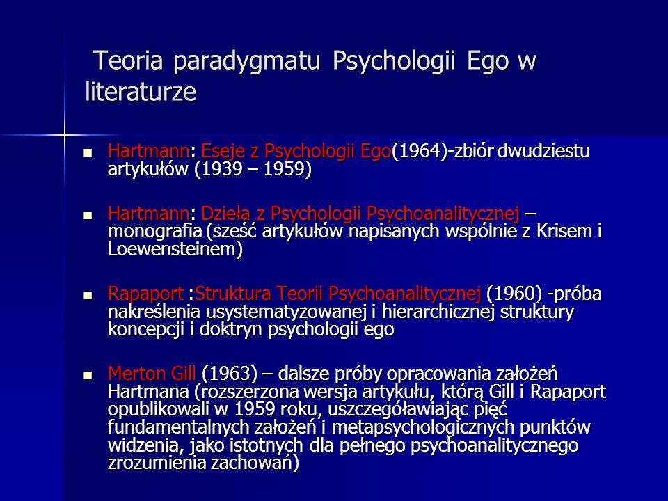 Teoria paradygmatu Psychologii Ego w literaturze