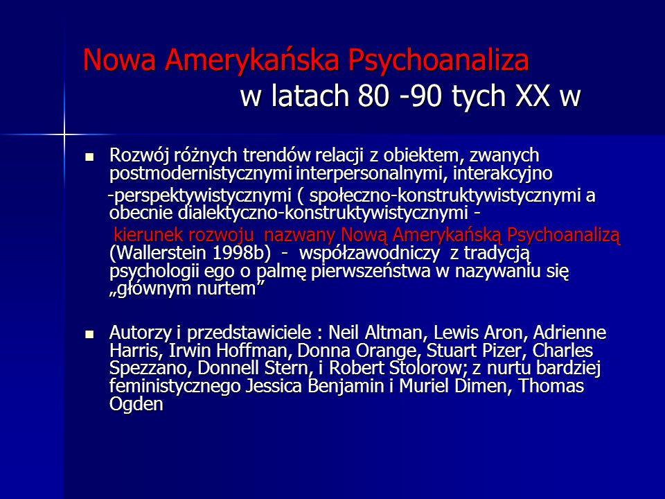 Nowa Amerykańska Psychoanaliza w latach 80 -90 tych XX w