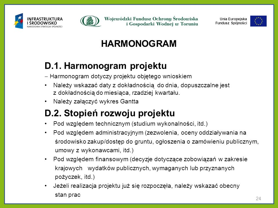 D.1. Harmonogram projektu