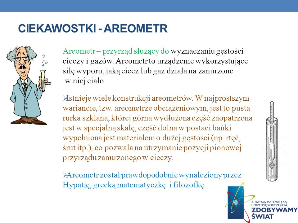 Ciekawostki - areometr