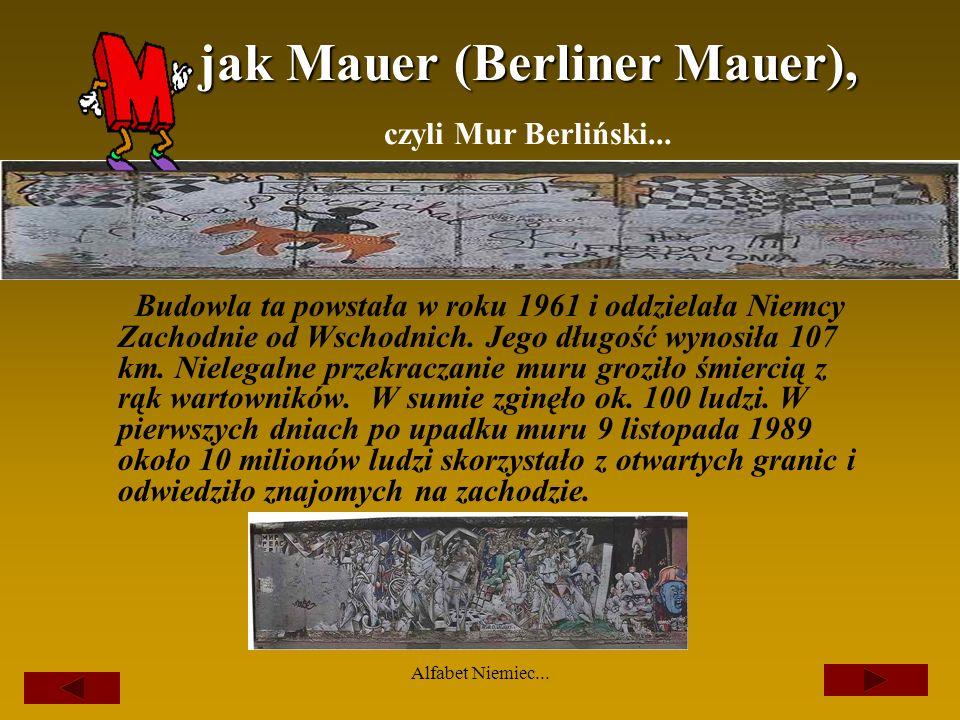 jak Mauer (Berliner Mauer), czyli Mur Berliński...