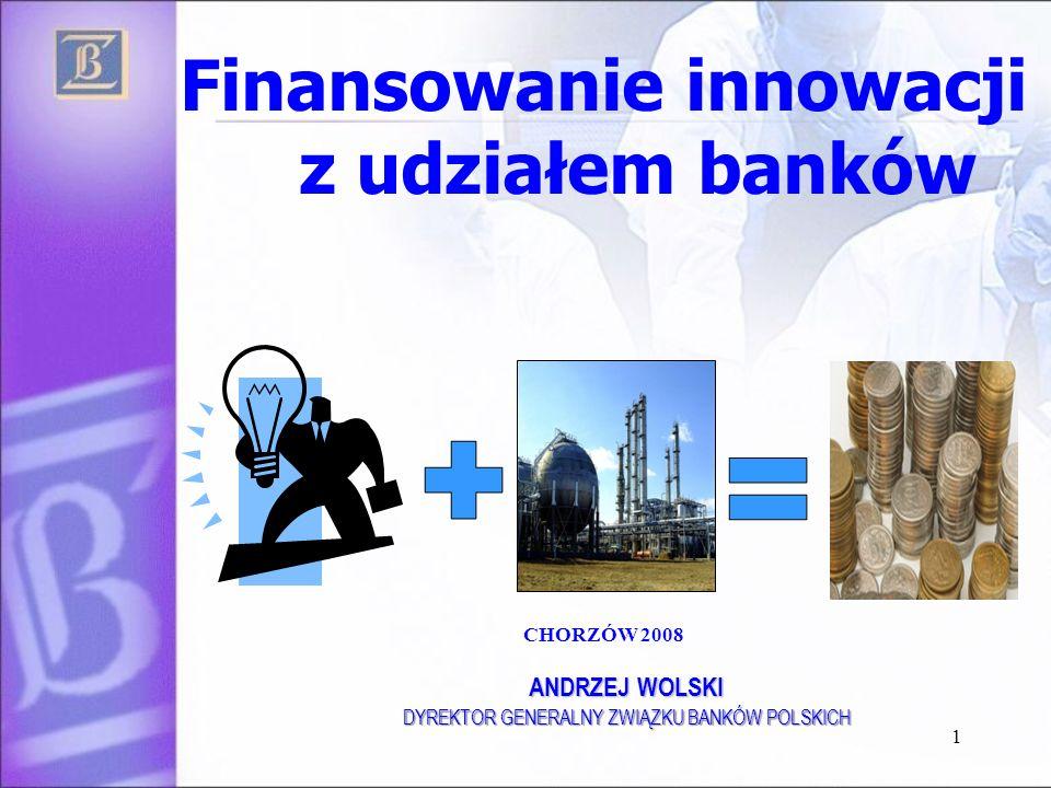 Finansowanie innowacji z udziałem banków