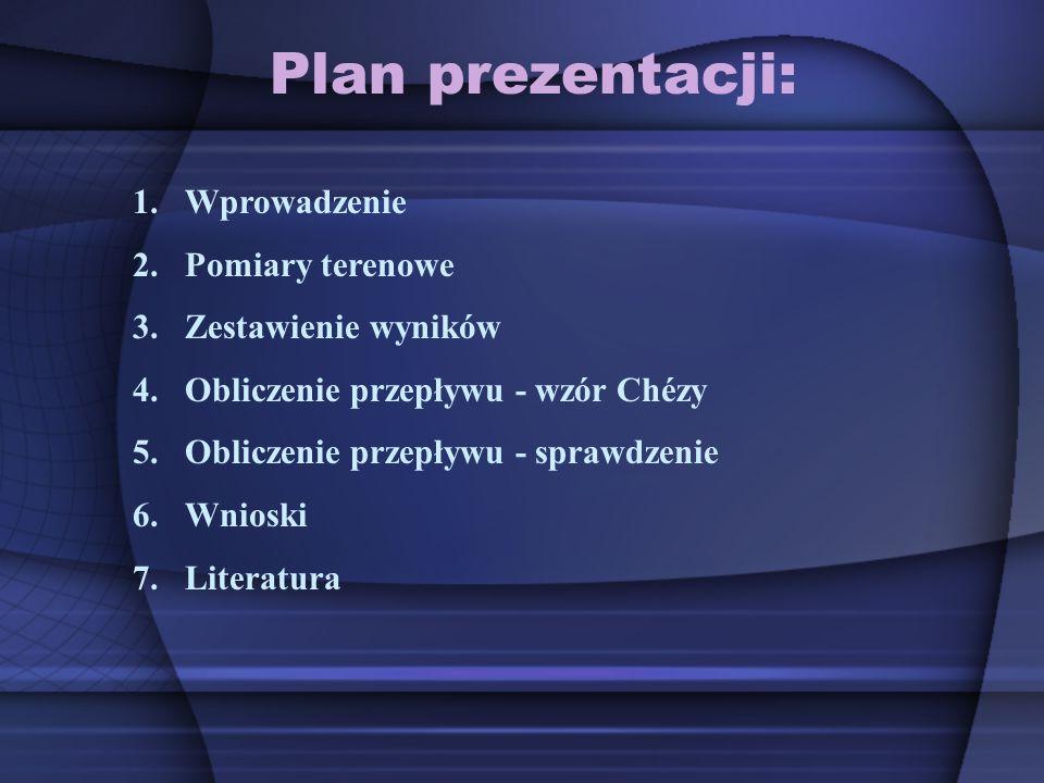 Plan prezentacji: Wprowadzenie Pomiary terenowe Zestawienie wyników