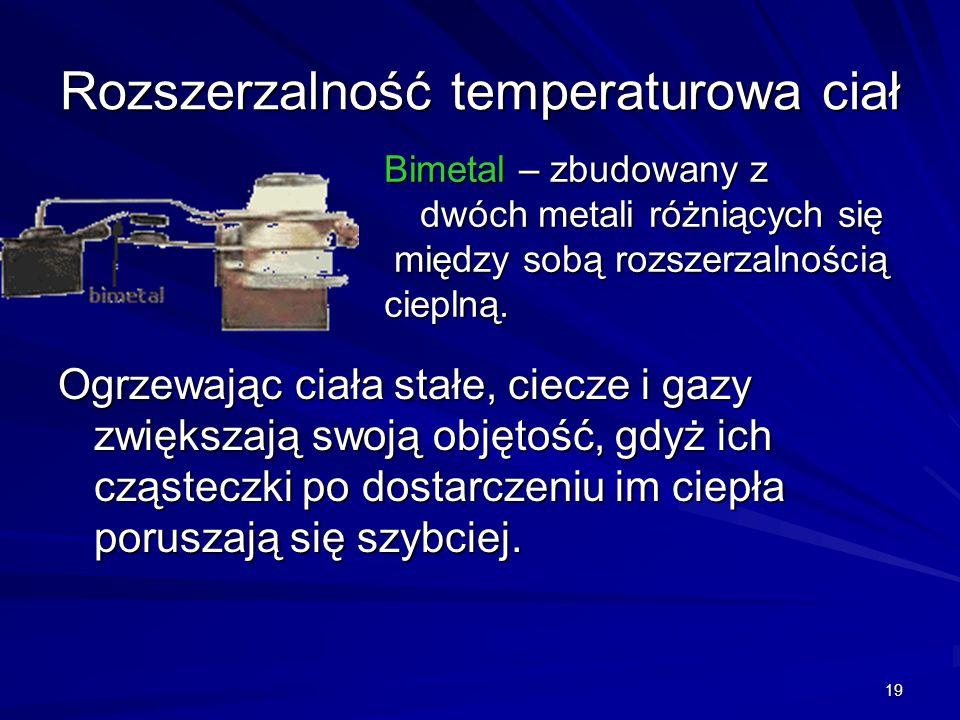 Rozszerzalność temperaturowa ciał