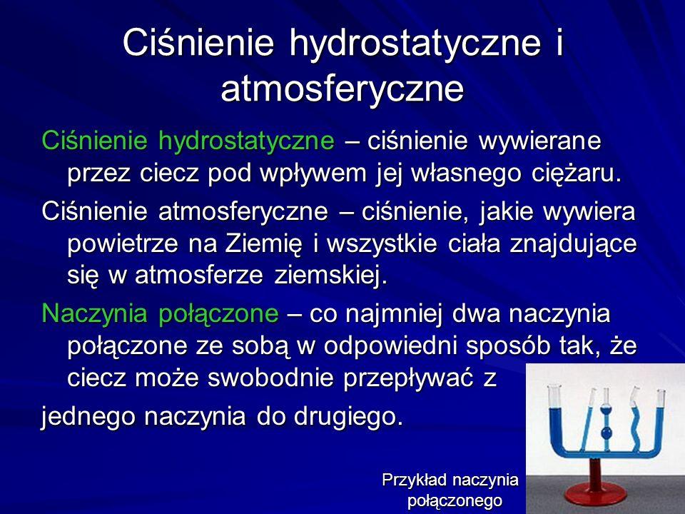 Ciśnienie hydrostatyczne i atmosferyczne