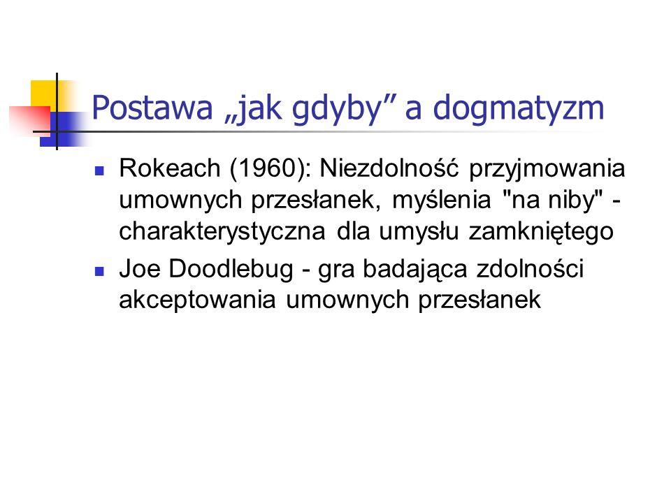 """Postawa """"jak gdyby a dogmatyzm"""