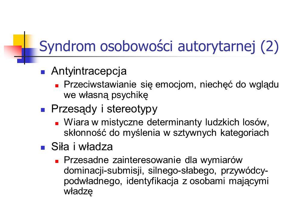 Syndrom osobowości autorytarnej (2)