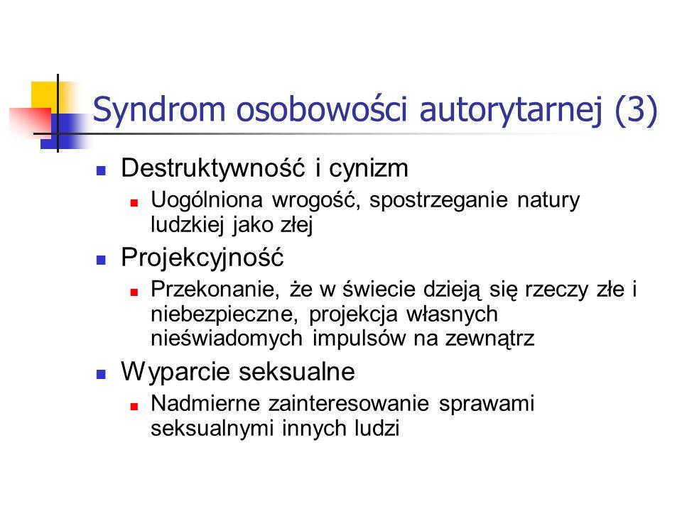 Syndrom osobowości autorytarnej (3)