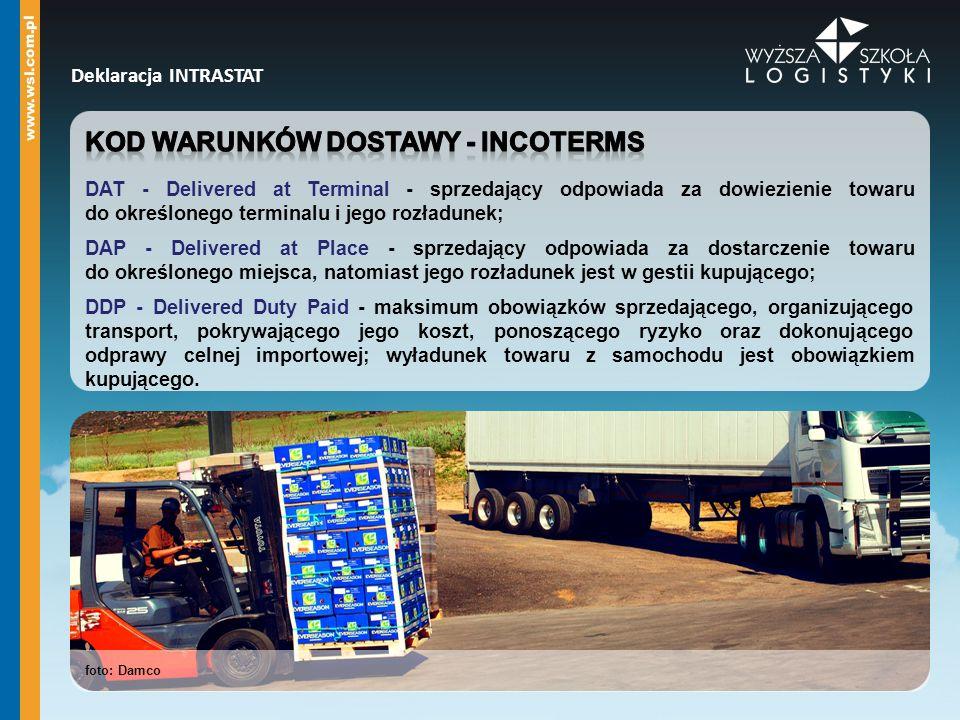 Kod warunków dostawy - incoterms